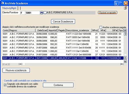 Archivio scadenze for Scadenze di pagamento